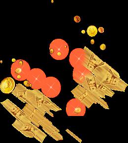 金币美元漂浮元素