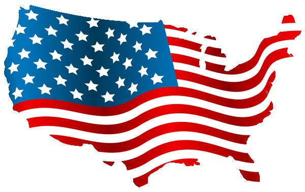 创意美国国土地图