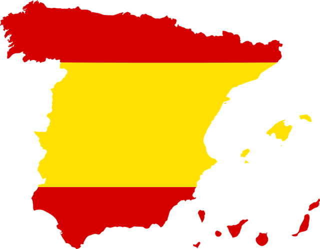 西班牙地图模板
