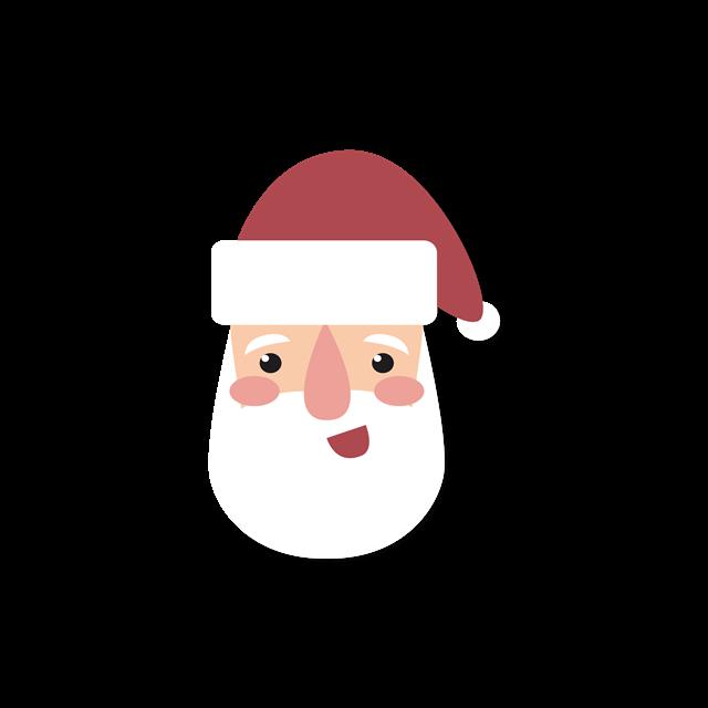 卡通圣诞老人头像图片