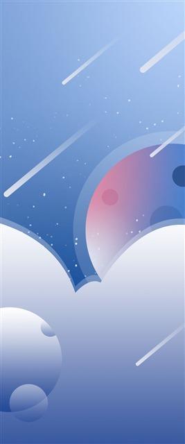 宇宙星空流星雨背景图