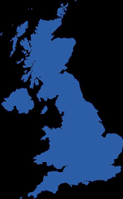 英格兰地图形状