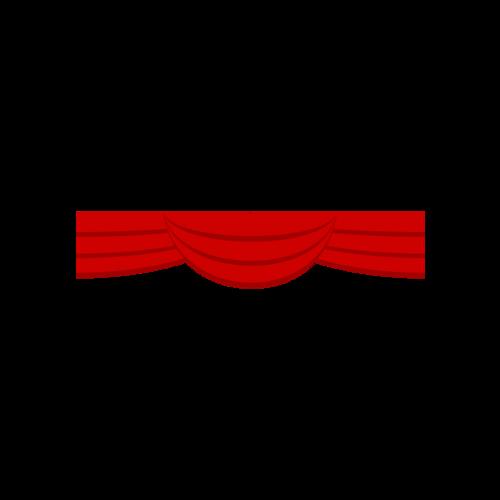 红色幕布悬挂元素