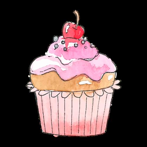 手绘甜品插画