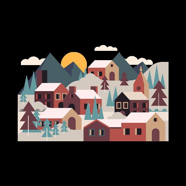 扁平化郊区小城镇