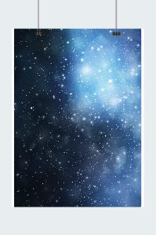 蓝色梦幻星空背景图