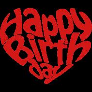 happybirthday心形艺术字