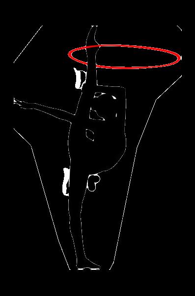 艺术体操人物剪影
