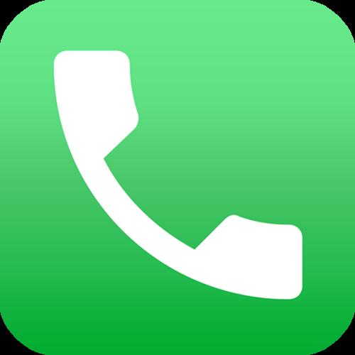 经典绿色电话图标