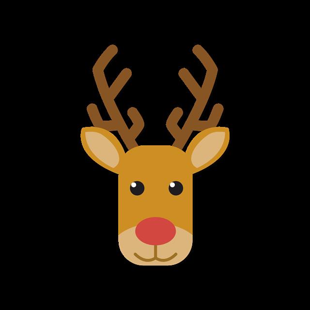 卡通圣诞麋鹿头像