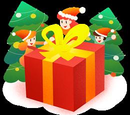 圣诞礼物盒插画
