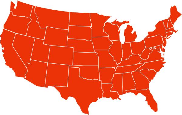美国划分地图形状