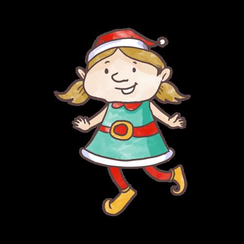 卡通圣诞女孩图片