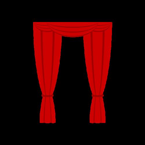 戏曲台子红色幕布