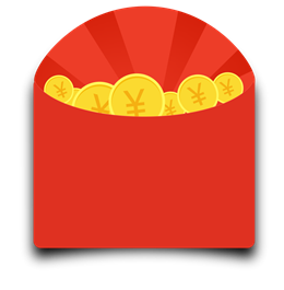 店铺红包金币矢量图