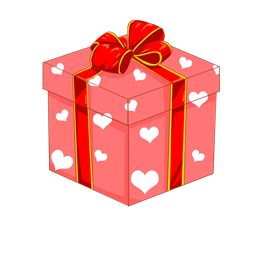 粉色卡通爱心礼盒图片