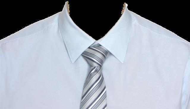 白衬衫证件照模板男