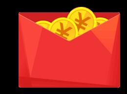 商铺红包矢量图
