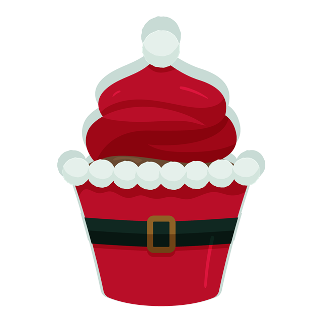 圣诞风纸杯蛋糕图片