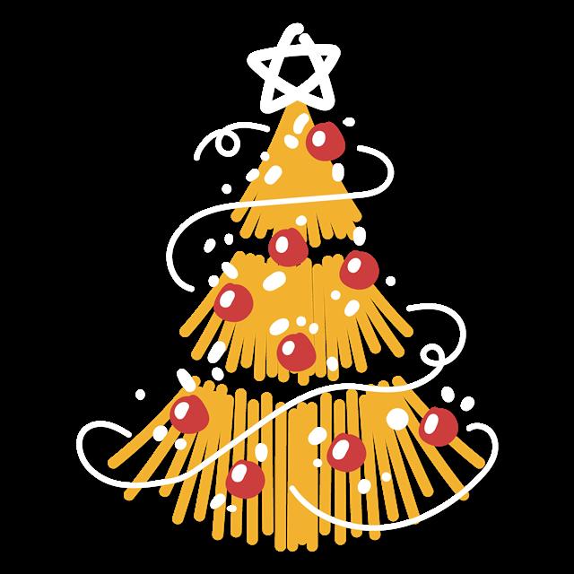 手绘圣诞树装扮图片