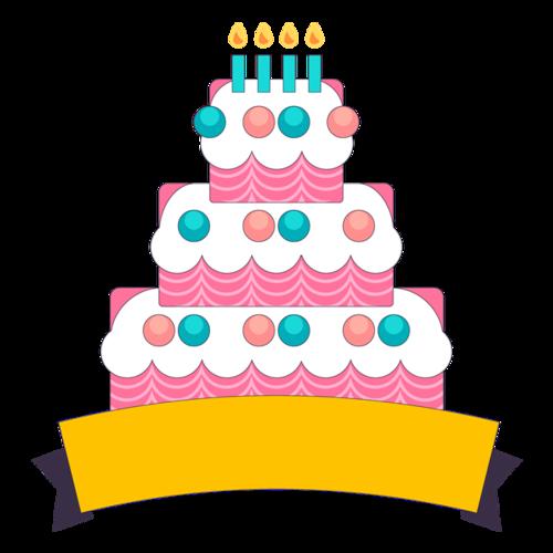 生日蛋糕简笔画素材