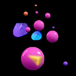 立体球体漂浮元素