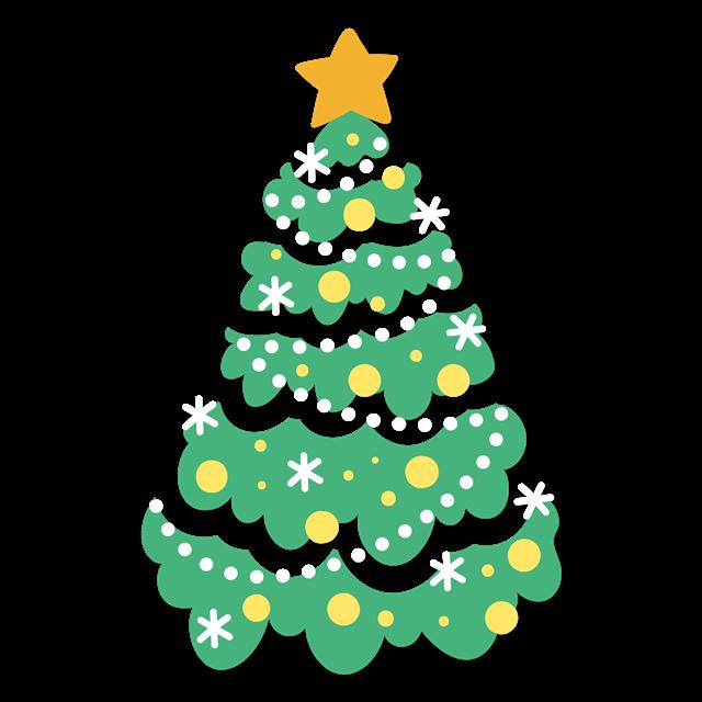 简约圣诞树装饰图片