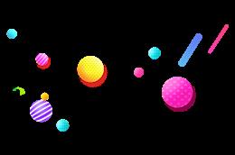 电商漂浮球体元素图片