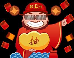 财神爷新年发红包图片