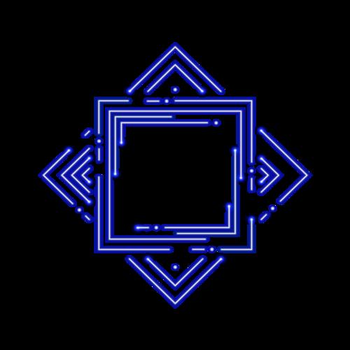 蓝色对称花纹图案