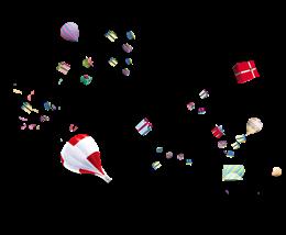 C4D电商气球礼物漂浮物