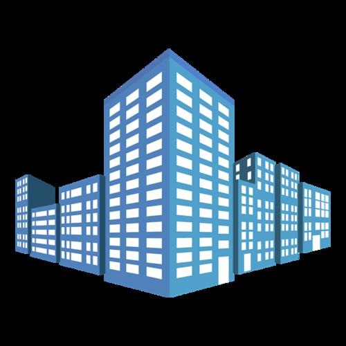 商务楼宇矢量图