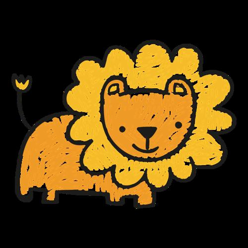 小狮子儿童涂鸦