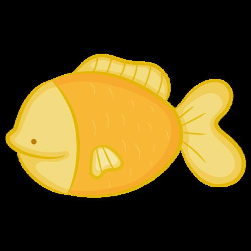 蓝色可爱小鱼