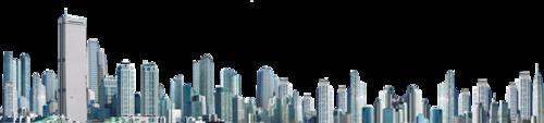 航拍一线城市摩天大楼群