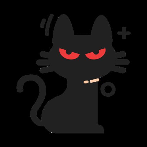 黑色红眼小猫咪