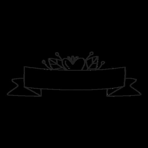 黑白婚礼边框装饰