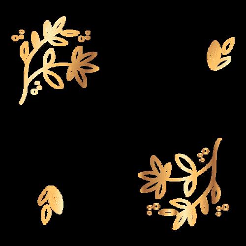 金色树叶装饰图案