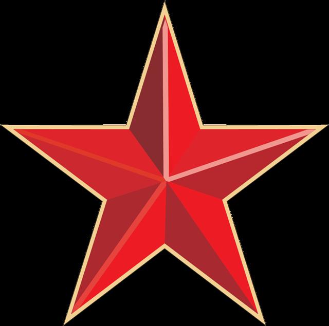 党建风红色五角星