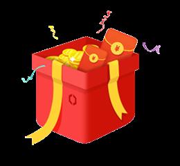 一箱金币红包图片