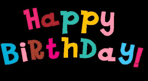 手绘生日快乐字体图片