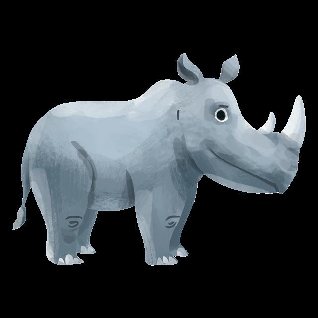 小犀牛卡通图片