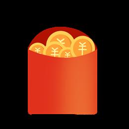 金币红包装饰图片