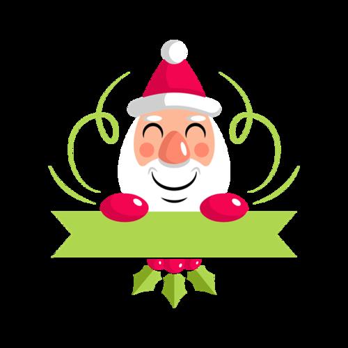 可爱圣诞老人条幅标签