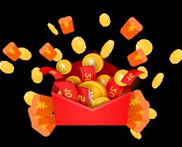 红包金币装饰图案图片