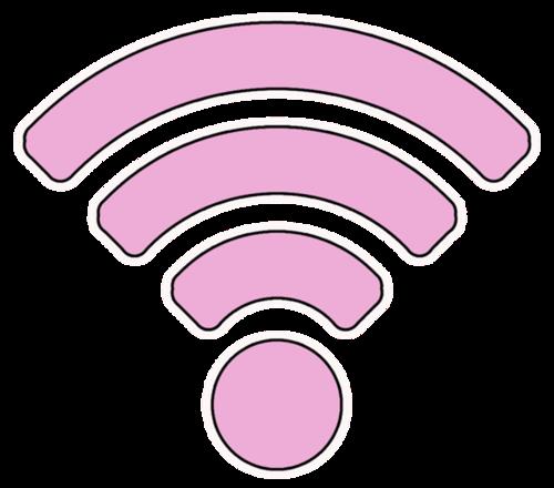 粉色wifi标志