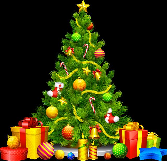 圣诞树礼物堆