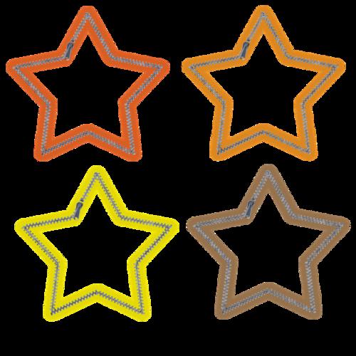 几何镂空彩色星星