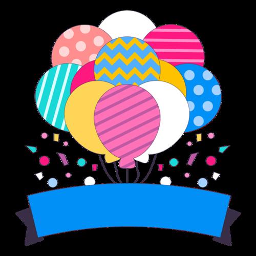 生日气球装饰图片