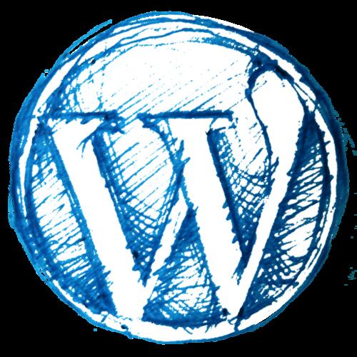素描WordPress徽标logo